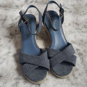 Cole Haan Air Camila 65 Denim Wedge Sandals